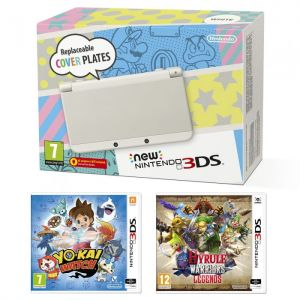 New Nintendo 3DS (biała) + YO-KAI WATCH + Hyrule Warrior