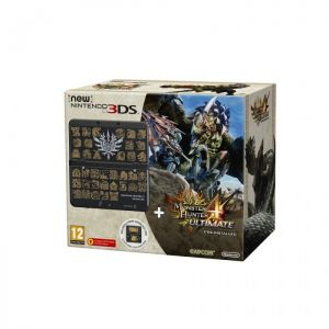 New Nintendo 3DS Black Monster Hunter 4U MH4 cover plate