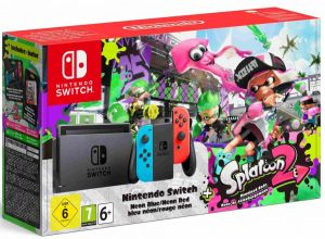 Konsola Nintendo Switch (Neon RED/BLUE) + Splatoon 2