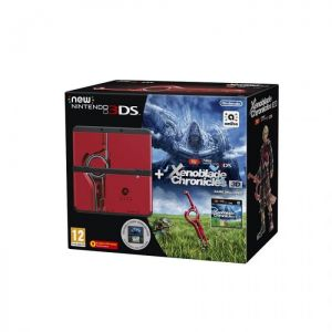 New Nintendo 3DS Black Xenoblade Chronicles 3D + Cover Plate